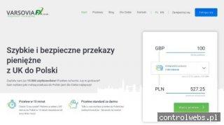 VarsoviaFX - przelewy do Polski z UK