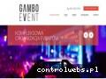 Screenshot strony gambo-event.pl