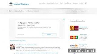 Kontawbanku.pl - ranking rachunków osobistych i lokat