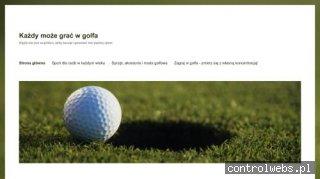 Golf - Pierwsze kroki