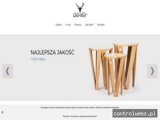 Deer Wood - Stylowe stoliki kawowe z litego drewna dębowego
