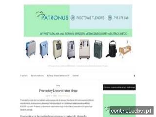 Koncentratory tlenu Patronus - wypożyczalnia i serwis