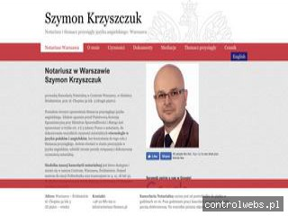 Notariusz w Warszawie Szymon Krzyszczuk