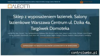 Wyposażenie łazienki Warszawa, Sklep z łazienkami - ALEOTTI
