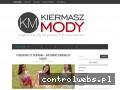 Screenshot strony www.blog.kiermaszmody.pl