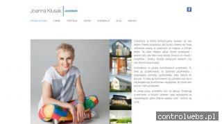 Projektant wnętrz Joanna Kłusak