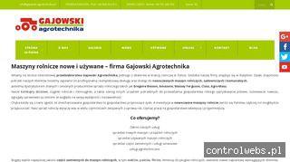 www.gajowski-agrotechnika.pl Agregaty uprawowe