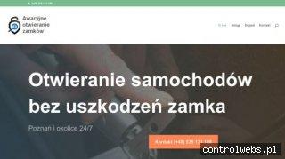 Otwieranie samochodu auta zamków Poznań