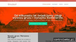 Gruzout - wywóz gruzu i śmieci w kontenerach Warszawa