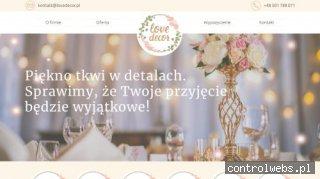 LoveDecor - wypożyczalnia dekoracji ślubnych i bankietowych