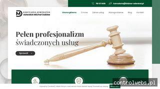 Kancelaria adwokacka Warszawa – Michał Dobies