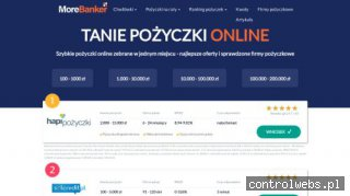 Tanie pożyczki - morebanker.pl