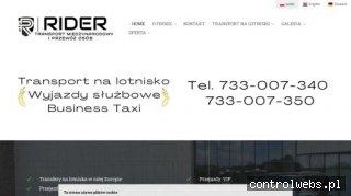 RIDER- transport międzynarodowy i przewóz osób, transfery