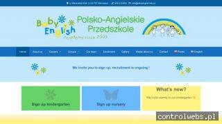 Polsko-angielskie przedszkole Warszawa - babyenglish.edu.pl