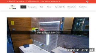 Projekt łazienki i płytki ceramiczne Częstochowa w Luxdom