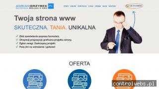 Tworzenie stron Tomaszów - adriangrzybek.pl