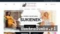 Screenshot strony www.wsukienki.pl