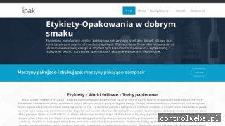 Etykiety, worki foliowe - Lublin - IPAK Sp.J.