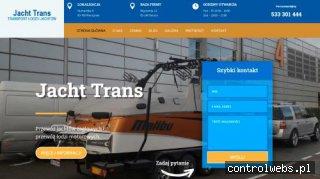 Transport jachtu | Trans-Yacht Maciej Pałyszko
