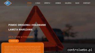 Pomoc drogowa Ącki Warszawa Laweta Holowanie
