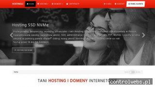 Tani Hosting WWW WordPress SSD NVMe i domeny - Hostinguj.pl