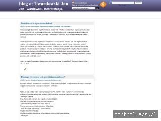 blog o Twardowski Jan