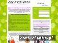 Screenshot strony www.buteks-rudawa.pl
