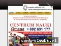 Screenshot strony www.centrum-nauki-omega-kursy.pl