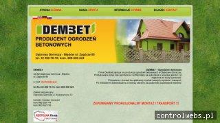 DEMBET producent ogrodzeń betonowych