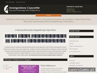 Hasło reklamowe - AwangardowyCopywriter.pl