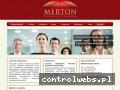 Screenshot strony merton.edu.pl