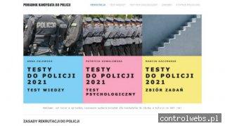 Legalne Testy do Policji - pomoc w rekrutacji