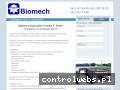 Screenshot strony www.biomechhutnictwo.pl